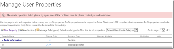 User Profile Property Cannot be Deleted in SharePoint 2013